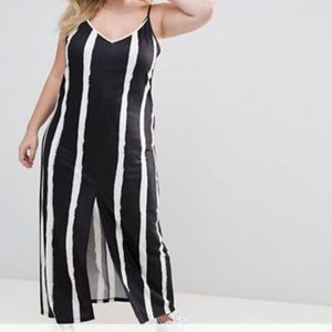 ASOS striped maxi dress